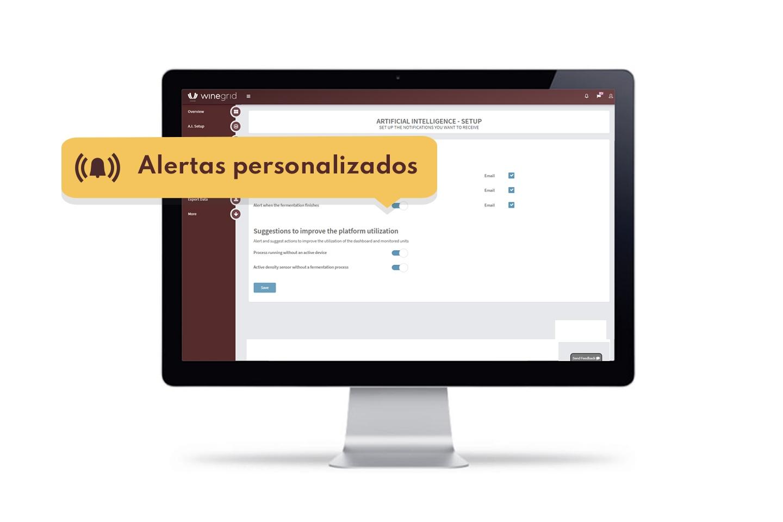 WINEGRID - Dashboard -Alertas e notificações personalizáveis